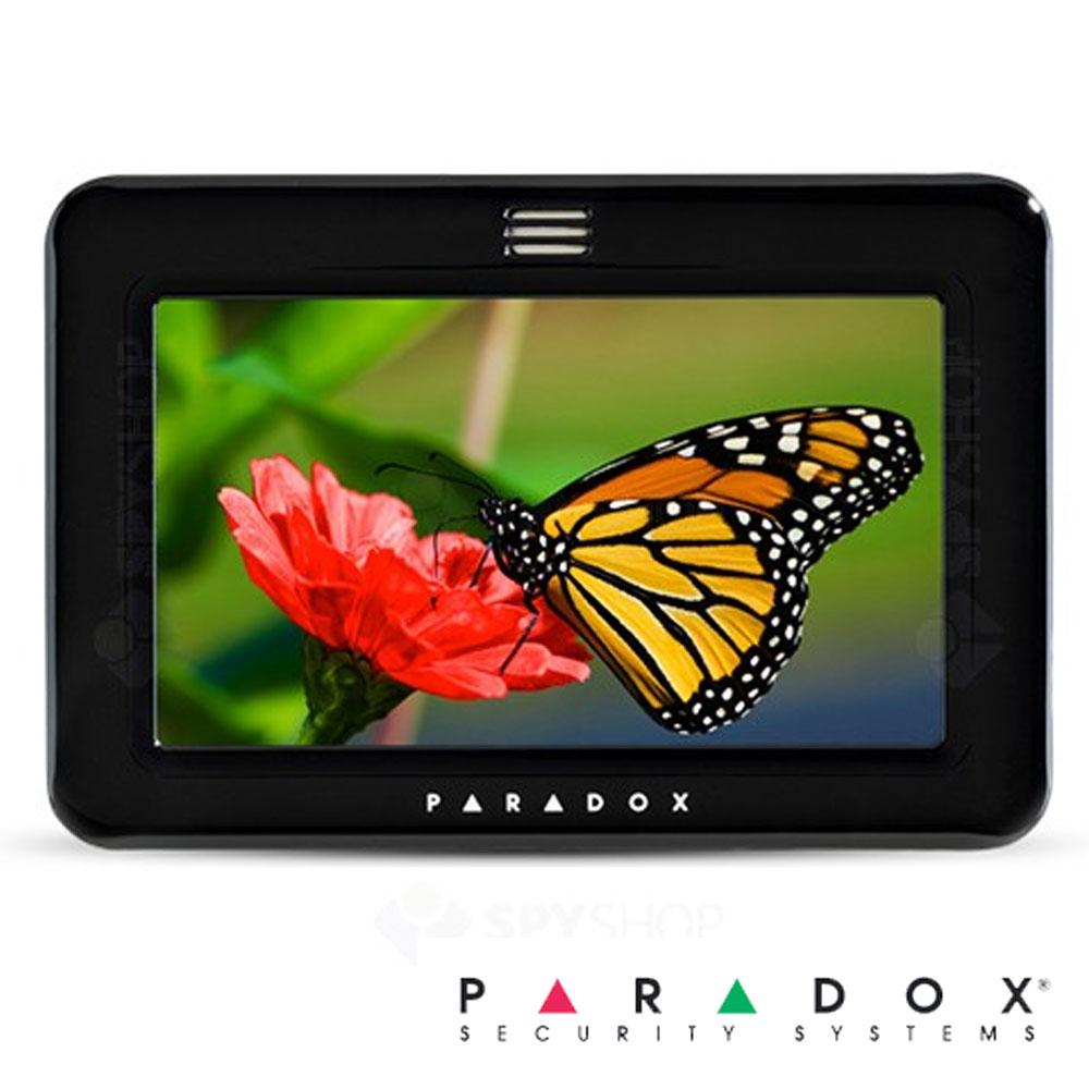 Tastatura Touch Screen 7 inch, pe fir, Slot Card, 128 zone - Paradox TM50