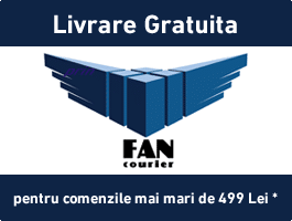 Transport gratuit in reteau Fan Courier, pentru comenzile de peste 499 lei