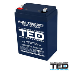 Acumulator 12V2.7Ah - TED Electric TED1227F1