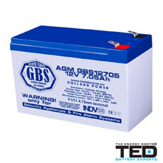 Acumulator 12V7Ah - TED Electric GBS12705F1