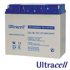 Acumulatori fara intretinere 12V DC 18AH - Ultracell UL18-12