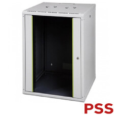Cabinet metalic 16U, 600x600 - PSS LN-PR16U6060-LG-111