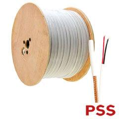 Cablu coaxial RG59 cu alimentare MYYUP 2 x 0.75 mm, culoare alba - PSS COAX-RG59-2X075
