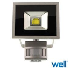 Proiector cu senzor 1440lm, lumina rece, 6500K - Well LEDCOB-VIVID20PIR-WL
