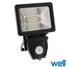 Proiector cu senzor 650lm, lumina neutra, 4000K - Well SHINY10PIR-WL