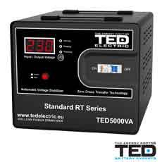 Stabilizator de tensiune 5000VA, 3000W - TED Electric TED5000