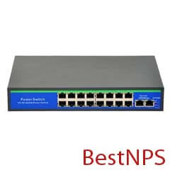 Switch PoE BestNPS 16+2 porturi Gigabit - BestNPS NPS1620GBL