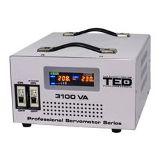 Stabilizator tensiune servomotor monofazat, display digital 3100VA / 1800W - TED Electric 3100SVC