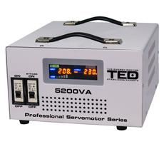 Stabilizator tensiune servomotor monofazat, display digital, 5200VA / 3000W - TED Electric 5200SVC