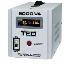 Stabilizator tensiune monofazat, 5000VA / 3000W- TED Electric RT 5000VA