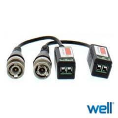 Video balun analogic cu surub pentru cablu UTP/FTP - Well BLN-N-S01-WL