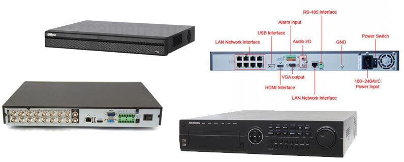 Exemple de DVR-uri si NVR-uri folosite in componenta unui sistem de supraveghere video