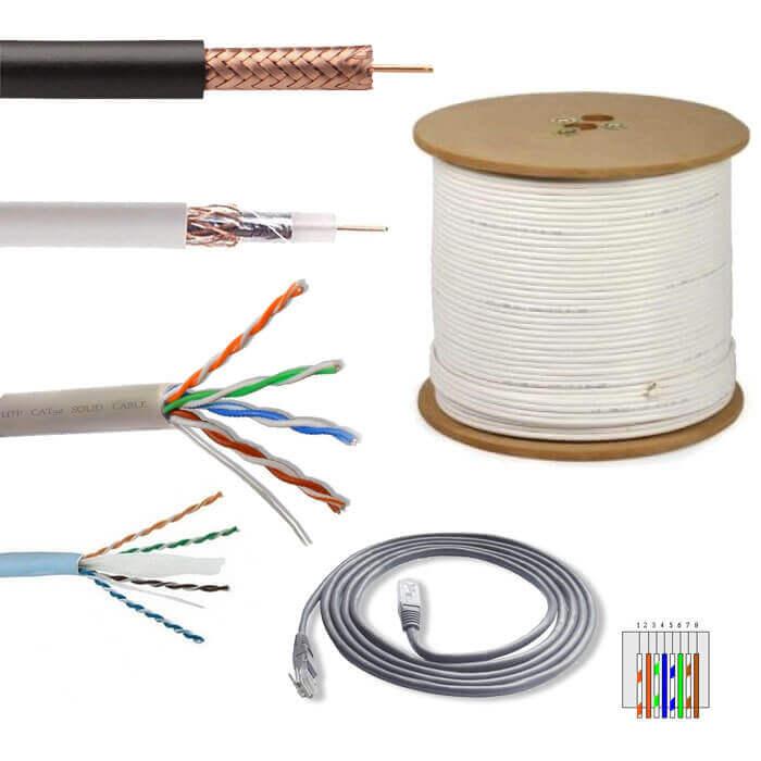 Exemple de cablu pentru supraveghere video: coaxial, utp, ftp