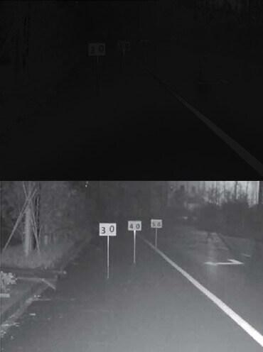 Exemplu de imagine obtinuta de o camera cu ajutorul iluminatorului in infrarosu