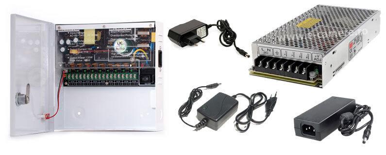 Exemple de Surse de alimentare individuala pentru camere de supraveghere video