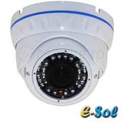 Camera IP 4MP, Dome, exterior, IR 30m, POE, Slot card - e-Sol DV400/30-SD