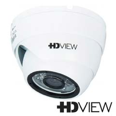 Camera Dome HDCVI, HDTVI, AHD Exterior 2 MP, IR 25m, Varifocala - HD-View GDTSV1W