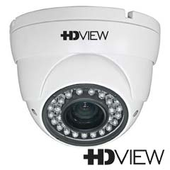 Camera Dome HDCVI, HDTVI, AHD Exterior 2 MP, IR 20m, Zoom 4x - HD-View AHD-2SMIR2