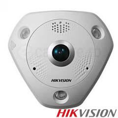 Camera IP Fisheye, Exterior, 8 MP, IR 15m, POE, Slot card - HikVision DS-2CD63C2F-IVS