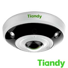 Camera IP 12MP, Fisheye 360°, Interior, 4K, POE, Slot Card, IR 10m - Tiandy TC-NC1261
