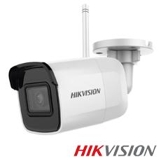 Camera IP 4MP Exterior, IR 30m, WiFi, Microfon, Slot Card, 2.8mm - HikVision DS-2CD2041G1-IDW1