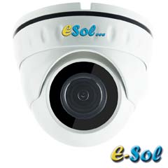 Camera IP 2MP Exterior, IR 20m, POE, Slot Card, lentila 2.8 - e-Sol D200/20-M-P