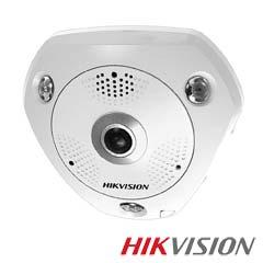 Camera IP 3MP 360° Exterior, IR 15m, POE, Card, lentila 1.19 - HikVision DS-2CD6332FWD-IVS