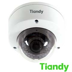 Camera IP Dome 4 MP, IR 30, POE, Zoom Motorizat, Slot Card - Tiandy TC-NC44M