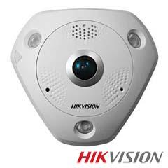 Camera IP Fisheye, Interior, 12 MP, IR 15m, Poe, Slot Card- HikVision DS-2CD63C2F-I