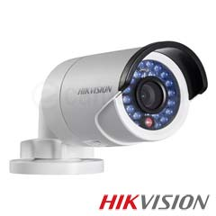 Camera Bullet IP, Exterior, 1 MP, IR 30m, POE, Slot Card - HikVision DS-2CD2010F-I