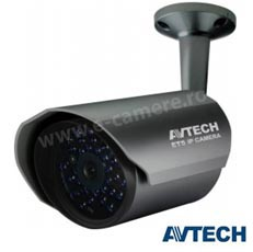 Camera IP 2MP, Exterior, IR 20m, lentila 3.8- AVTech AVM457