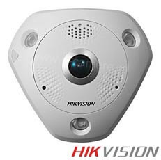 Camera IP Fisheye 3 MP, IR 15m, POE, Slot Card, Microfon - HikVision DS-2CD6332FWD-I