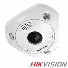 Camera IP Fisheye, 6MP, IR 10m, POE, Slot card, Microfon - HikVision DS-2CD6362F-I