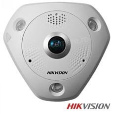 Camera IP Fisheye 6 MP, IR 15m, POE, Slot Card, Microfon - HikVision DS-2CD6362F-IVS