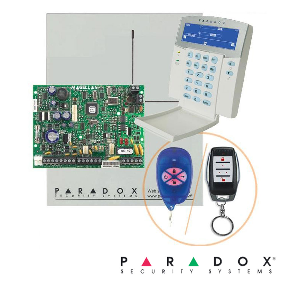 Centrala alarma pe fir, modul wireless inclus, tastatura K35 - Paradox MG5000-K35