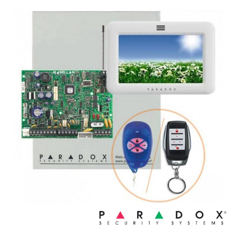 Centrala alarma MG5000 in cutie, cu tastatura TM50 si telecomanda - Paradox MG5000-TM50