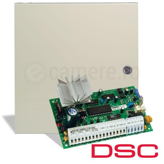 Centrala alarma 4 zone, nextensibila, tastatura PC1555 inclusa - DSC PC585