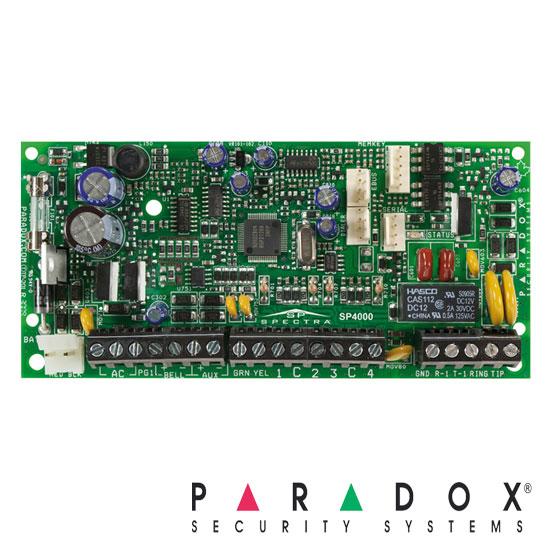Centrala alarma cablata, 8 zone, extensibila 32 zone prin dublare- Paradox SP 4000