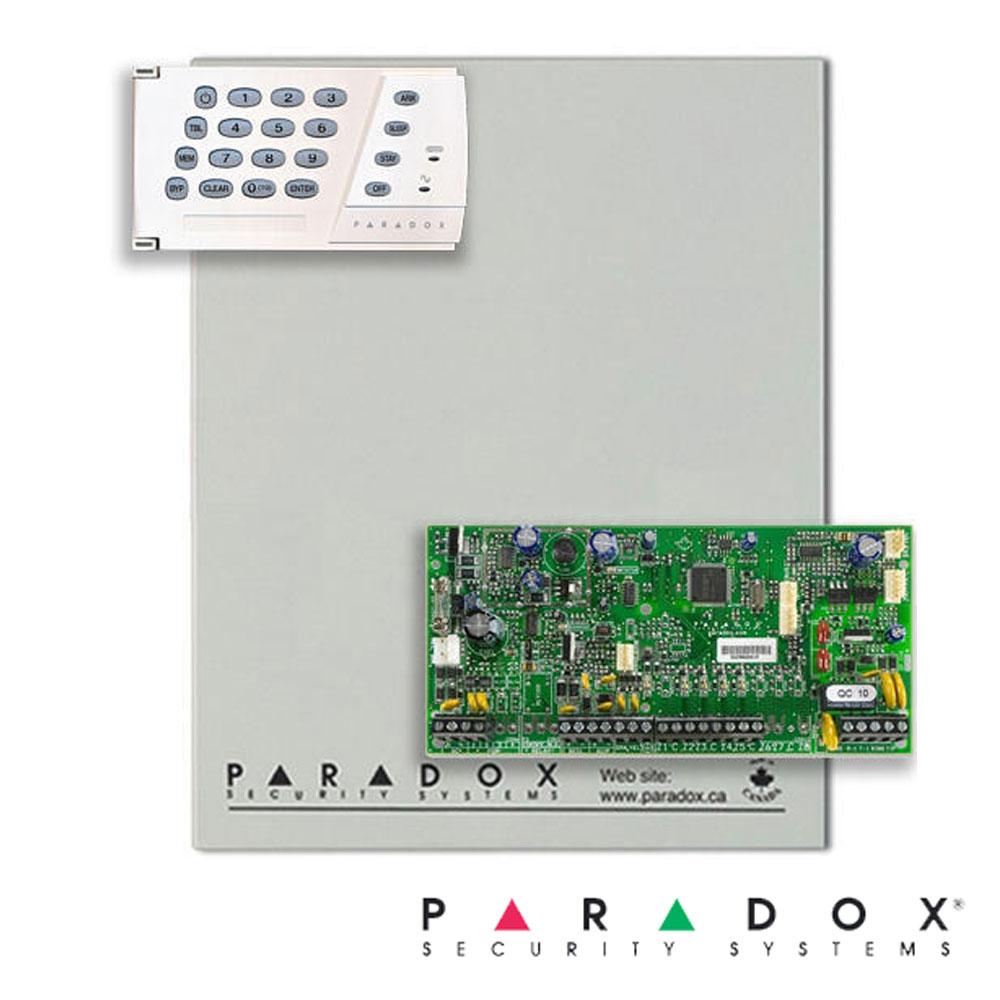 Centrala alarma SP5500 in cutie cu transformator si tasatatura K636 - Paradox SP5500-K636