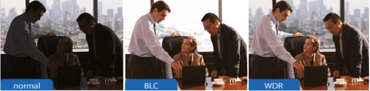 Comparatie intre  BLC, WDR si Normal in in domeniul supravegherii video