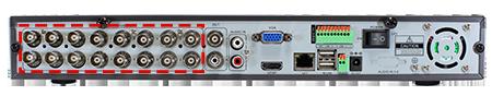 Vedere din spate DVR - sisteme de supraveghere video