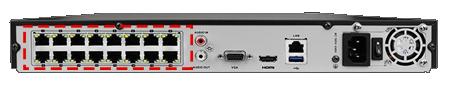 Vedere din spate NVR - sisteme de supraveghere video