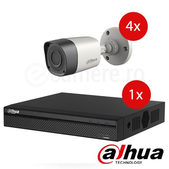 Pachet Dahua format dintr-un DVR 1080N si 4 camere de exterior.