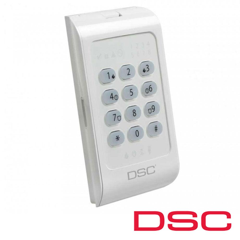 Tastatura LED, 8 zone - DSC PC-1404RKZWH-L