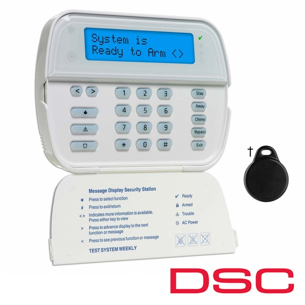 Tastatura wireles LCD cu cititor proximitate incorporat - DSC WT 5500P